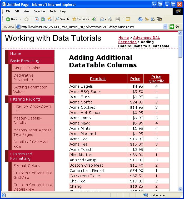 Adding Additional DataTable Columns (C#)   Microsoft Docs