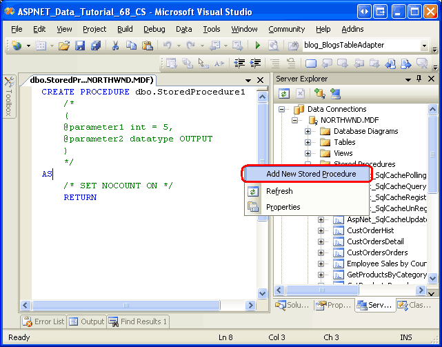 how to create a stored procedure in sql