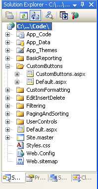 Adding and Responding to Buttons to a GridView (C