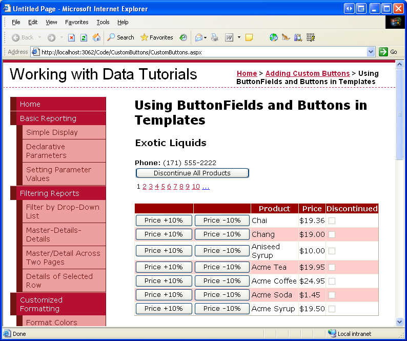 Adding and Responding to Buttons to a GridView (VB