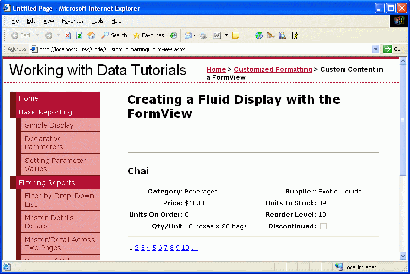 Using the formview 39 s templates c microsoft docs for Aspx net templates