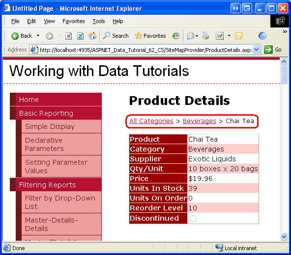 building a custom database driven site map provider vb microsoft