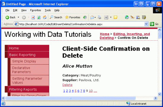 Adding Client-Side Confirmation When Deleting (VB) | Microsoft Docs