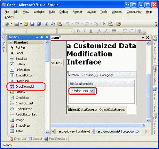 Customizing The Data Modification Interface (C