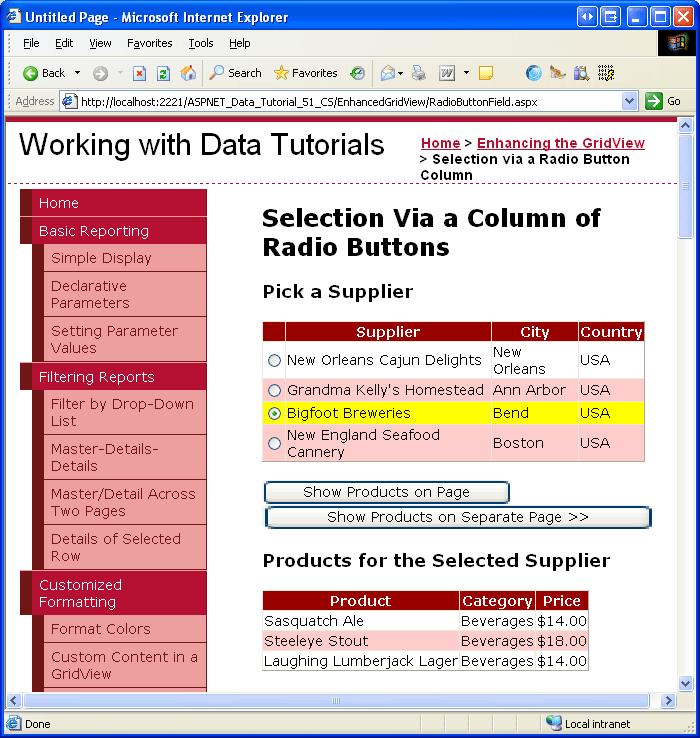 Adding a GridView Column of Radio Buttons (C#) | Microsoft Docs