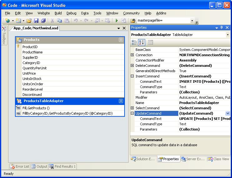 Creating a Data Access Layer (VB) | Microsoft Docs