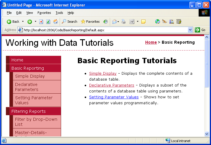 Master pages and site navigation (c#) | microsoft docs.