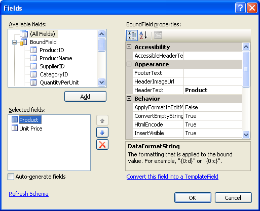 Master/Detail Using a Selectable Master GridView with a