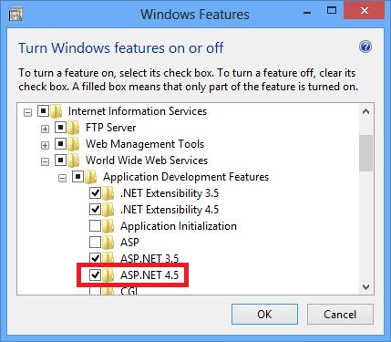 Select ASP.NET 4.5