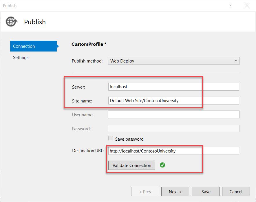 ASP NET Web Deployment using Visual Studio: Deploying to Test