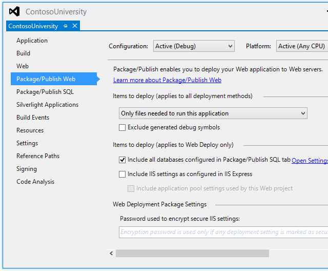 ASP NET Web Deployment using Visual Studio: Project