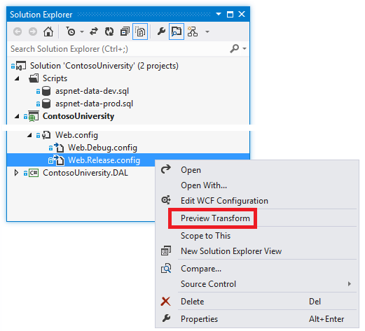 Updating your web config to enable asp net ajax