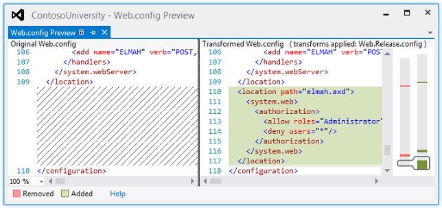 Web config validating asp 4
