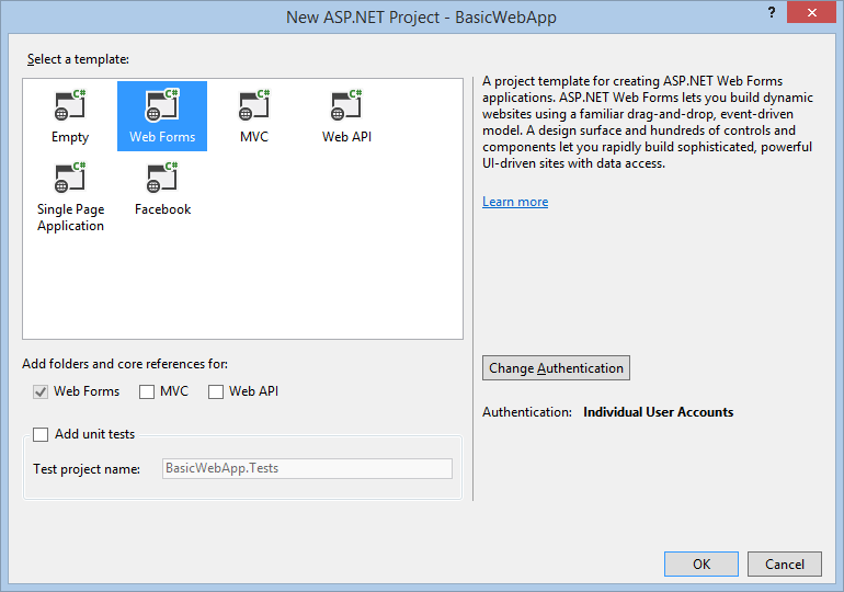 Code editing asp net web forms in visual studio 2013 microsoft docs - Asp net home page design ...
