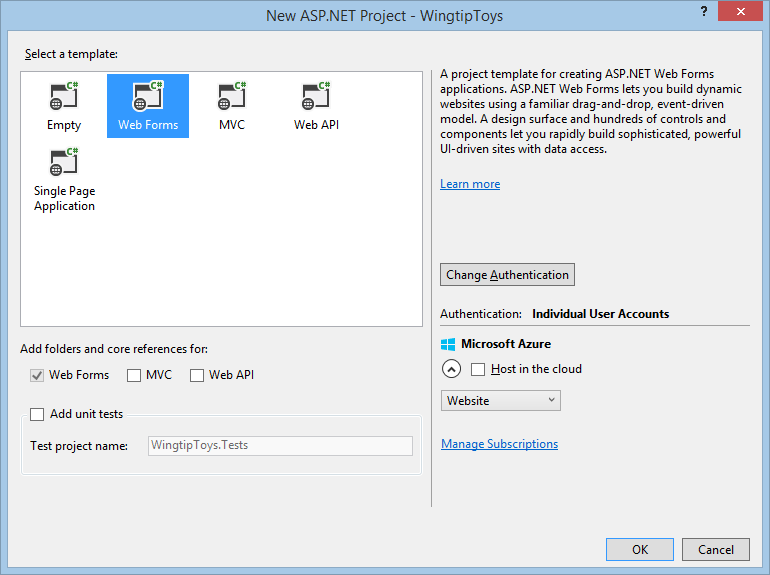 asp net web application design templates