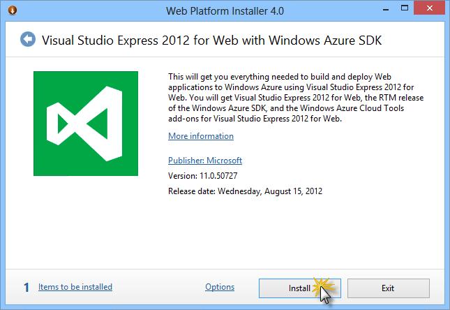 Install Visual Studio Express