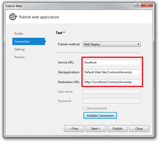 deploying an asp net web application with sql server
