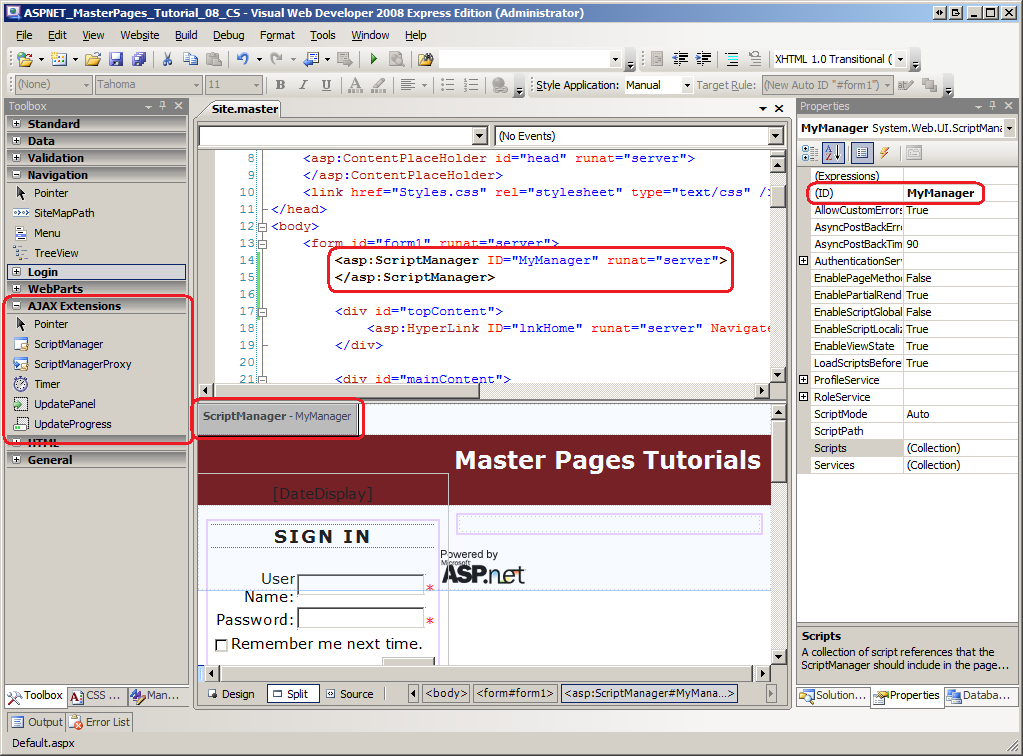 How to create master page in asp. Net.