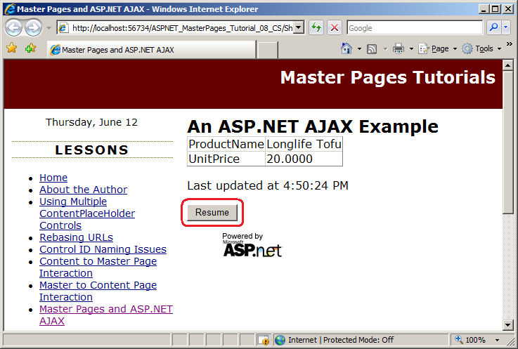 Ajax reorderlist not updating