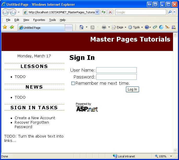 Multiple contentplaceholders and default content c microsoft docs - Asp net home page design ...