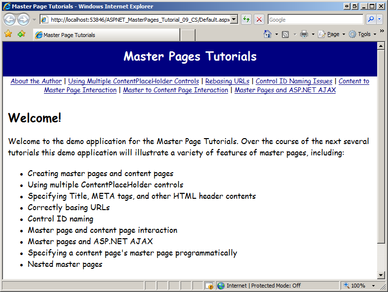 Specifying the Master Page Programmatically (C#) | Microsoft Docs