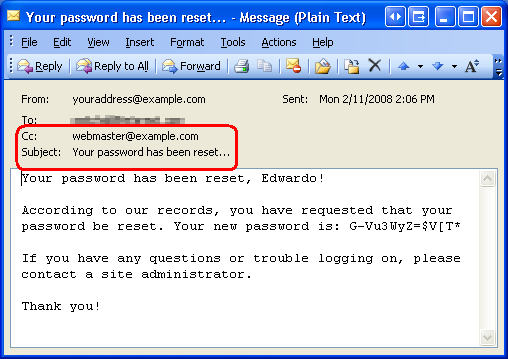 change password email template - recovering and changing passwords vb microsoft docs