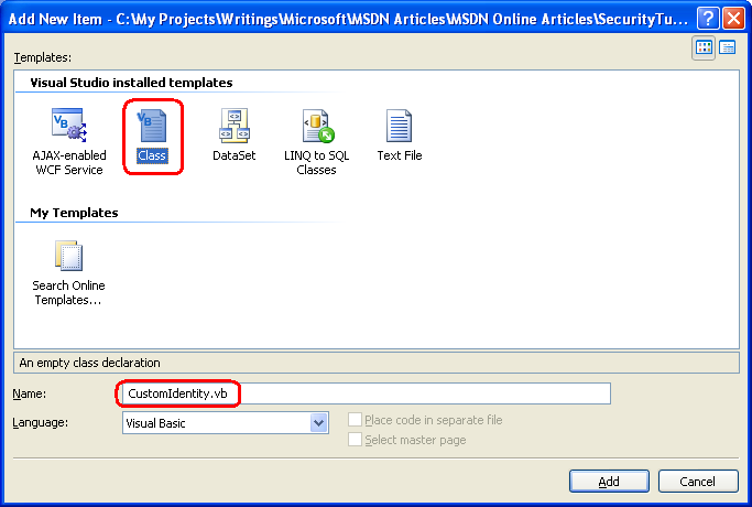 Forms Authentication Configuration and Advanced Topics (VB