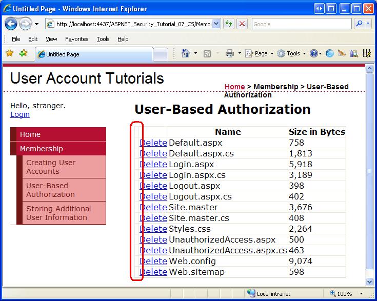 user based authorization c microsoft docs