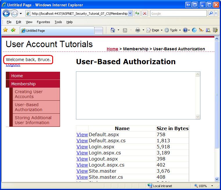 User-Based Authorization (C#) | Microsoft Docs