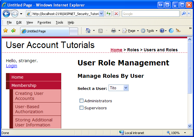 Assigning Roles to Users (C#) | Microsoft Docs