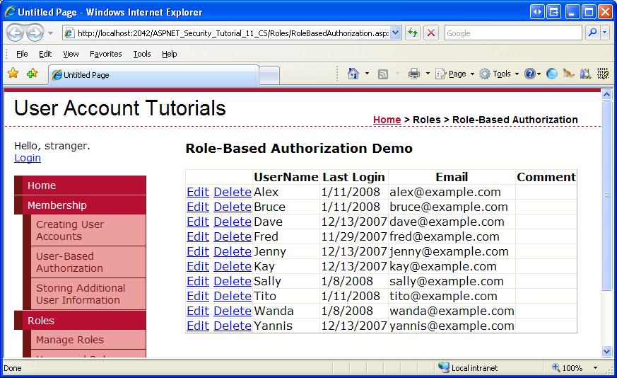 Role-Based Authorization (C#) | Microsoft Docs
