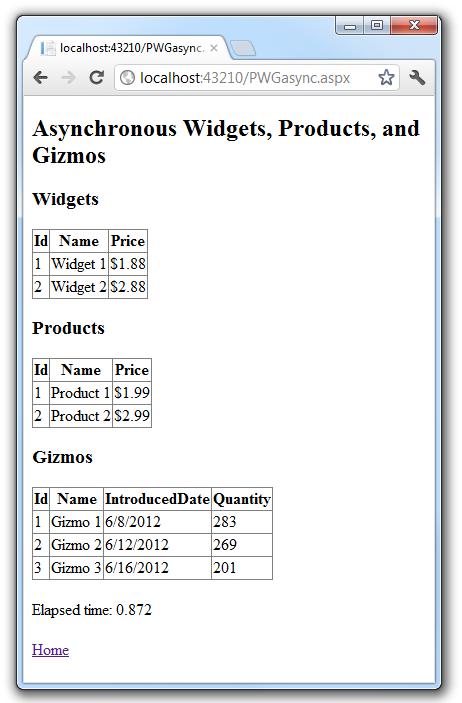 Using Asynchronous Methods in ASP NET 4 5 | Microsoft Docs