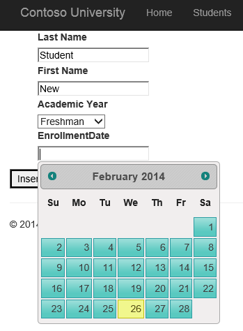 Integrating JQuery UI Datepicker with model binding and web