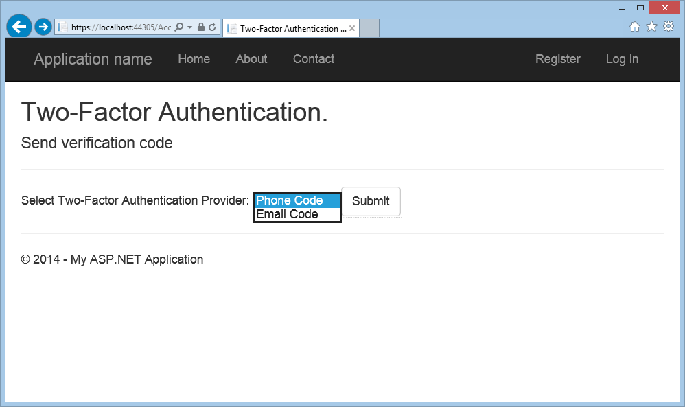 Create an ASP.NET Web Forms app with SMS Two-Factor Authentication ...