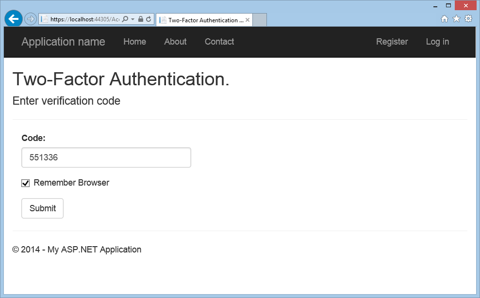 Create an ASP NET Web Forms app with SMS Two-Factor