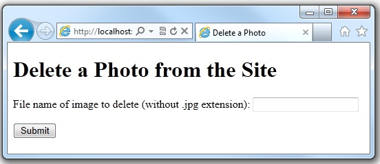 how to find a web page from the deleted file