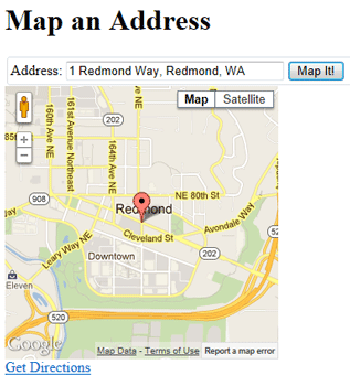 Displaying Maps in an ASP.NET Web Pages (Razor) Site ... on gmail address, google aerial view of property, instagram address, google web address, google home address,