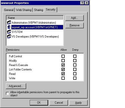 ASP NET Denied Access to IIS Directories | Microsoft Docs