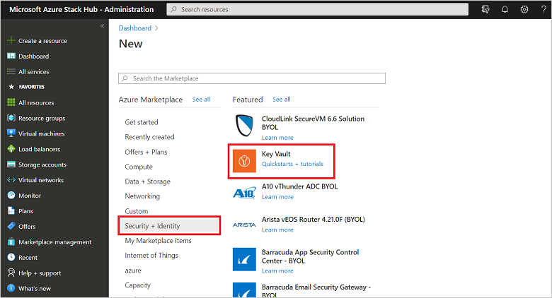 Manage Key Vault in Azure Stack using the portal | Microsoft