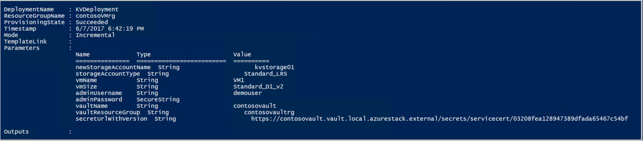 Deploy a VM with a securely stored certificate on Azure