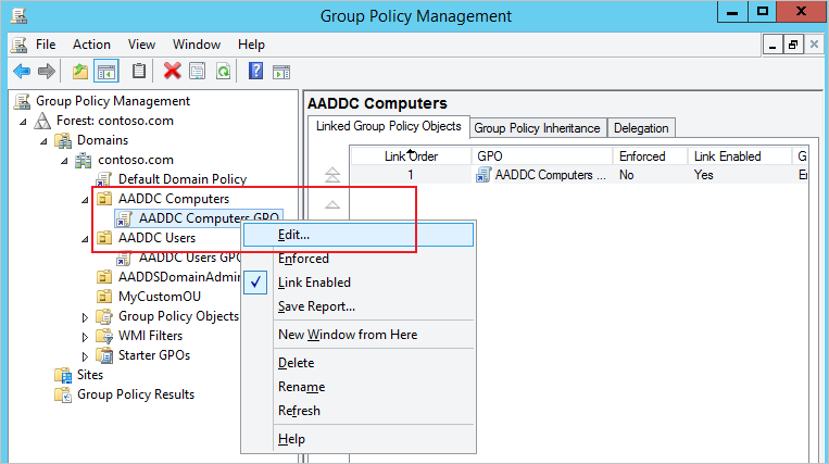Azure Active Directory Domain Services: Administer Group Policy on ...