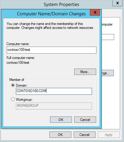 azure machine domain name