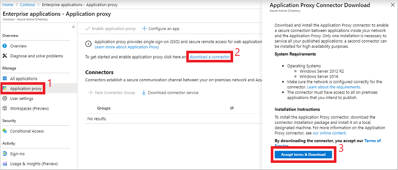 Download the Azure AD App Proxy connector