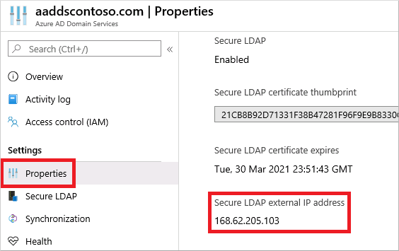 Tutorial - Configure LDAPS for Azure Active Directory Domain