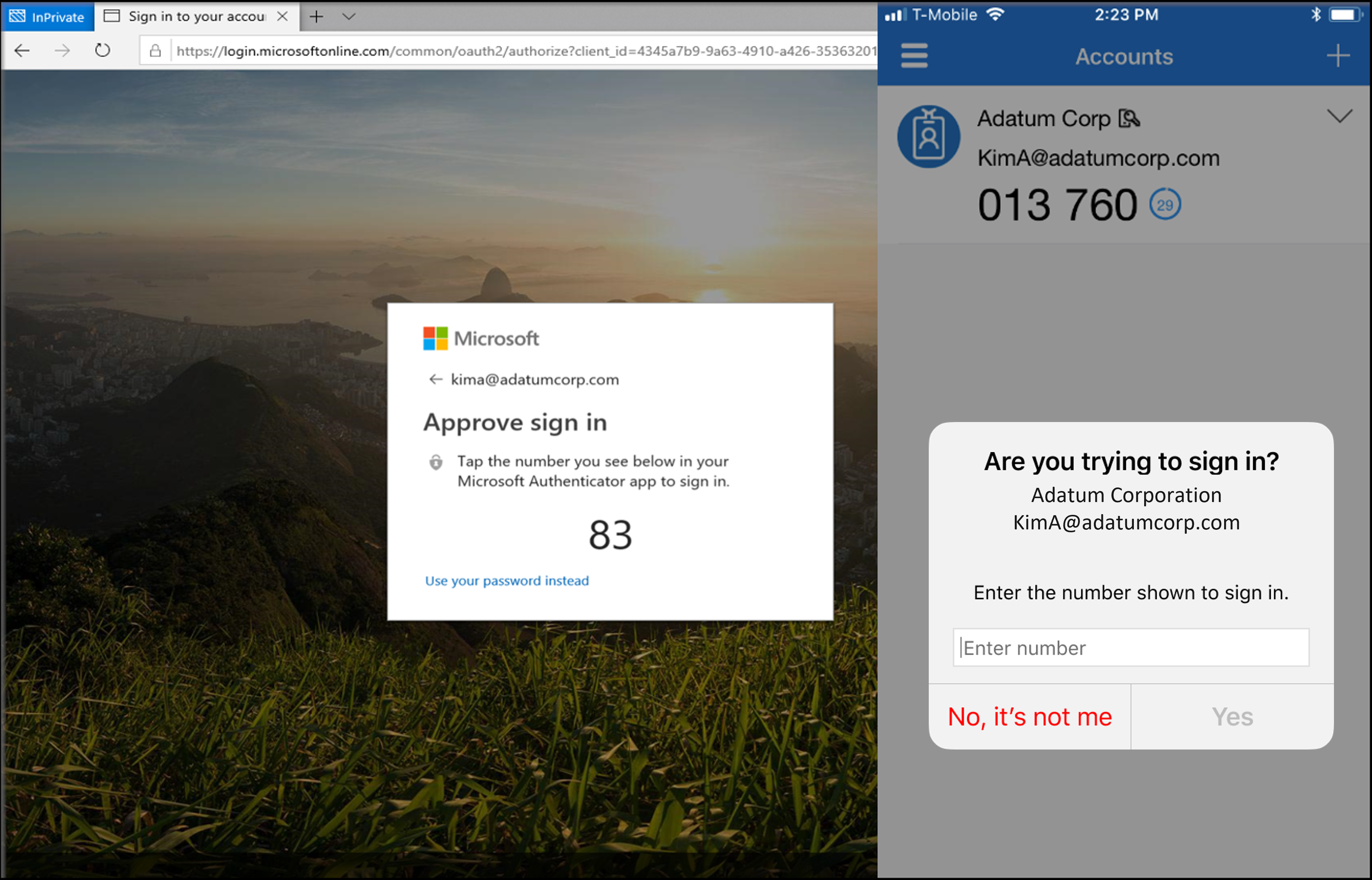 Enable passwordless sign-in with the Microsoft Authenticator app