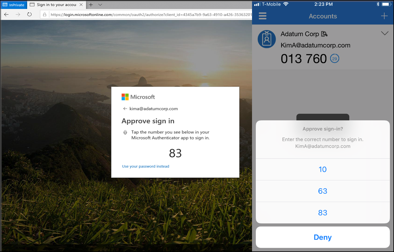 Microsoft Authenticator Demo
