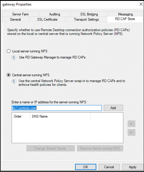 Remote Desktop Gateway integration with Azure MFA NPS