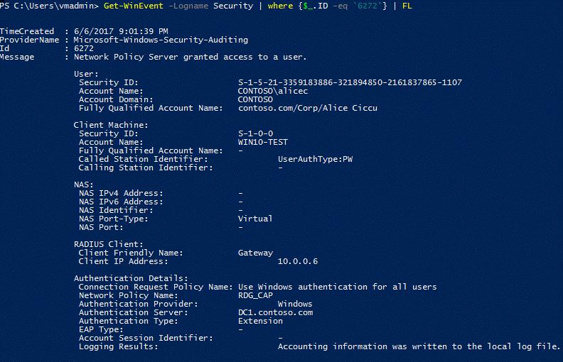 Remote Desktop Gateway integration with Azure MFA NPS extension