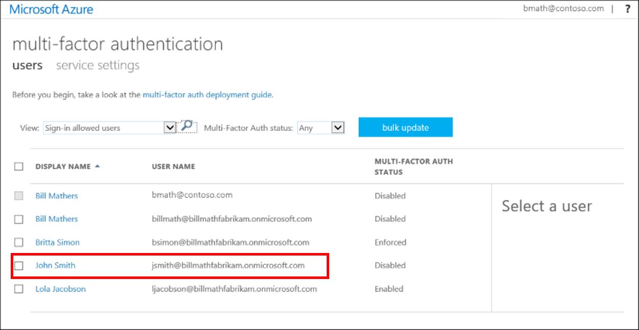 Azure Multi-Factor Authentication user states - Azure Active