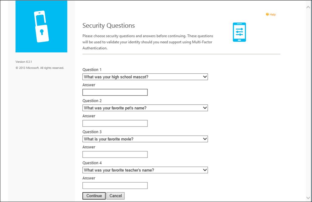 User Portal For Azure Mfa Server Microsoft Docs